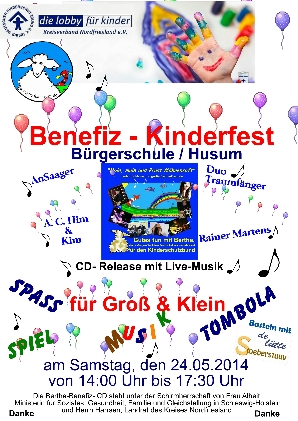 BENEFIZ-Kinderschutzbund-Fest am 24.5.2014